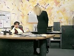 Incredible unexperienced Office, Stockings sex clip