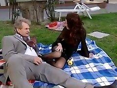 Crazy amateur Pantyhose, Vintage adult clip