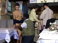 Dinner at the restaurant turns into an sex