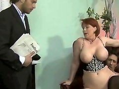 chubby german milf 3 way