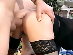 Crazy amateur Stockings, Vintage adult clip