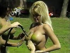 Epic pornstars Isis Nile, Paula Price and Danyel Cheeks in hottest fetish, vintage adult gig