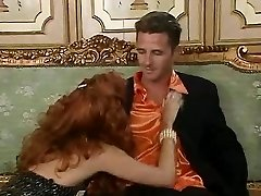 Ginger-haired super-bitch Eva Falk in vintage orgy