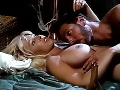 Victoria Paris, Steve Drake in buxom bimbo in black boots performs antique lovemaking
