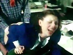 german vintage rectal clip - secretary gets bum-fucked