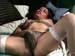 Retro Classic - Saténové nohavičky masturbácia