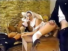 Dirty policemen unloaded having an intimate affair with mind-blowing nuns