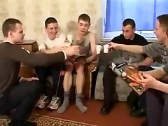 youthful Russian woman in gangbang