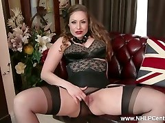 Natural yam-sized baps dark-haired Sophia Delane strips to nylons heels and wanks