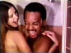 Vintage Bi-racial Couple Shower Sex