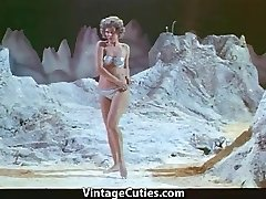 Woman Astronaut Stripteases on the Moon (1960s Antique)