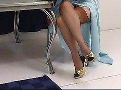 Justine Joli strips bare in classic fashion