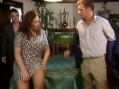 Two dicks for a big-boobed crumpet