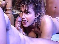 Victoria Paris in 80's porno fuckfest