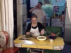 junior boy banging two senior ladies in the ass