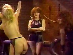 Retro Lesbian Gang Spanking