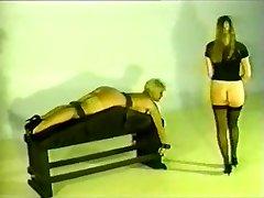 Retro Female gets spanked and boned.
