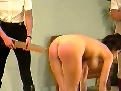 2 dommes spank & strap busty nymph (Part 3)
