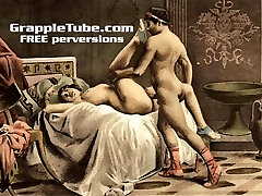 Vintage retro classical hardcore penetrating and oral hardcore sex perversions