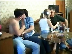 Two couples in older on young swinger porn