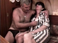 Vintage French romp video with a mature hairy couple