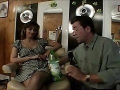 British slut Melanie drilled in a classic scene