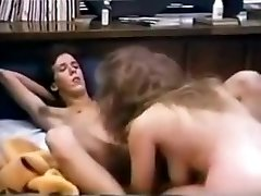 Busty college babe has great sex in 80s dormitory bedroom