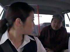 Crazy Chinese chick Nao Mizuki, Hikari Hino in Insatiable Car, Cunnilingus JAV movie
