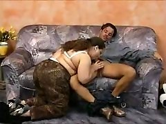 GERMAN BBW ANAL Soiree ON SOFA (Vintage)