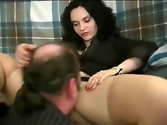 A woman making guy slurp her pretty snatch and treating him like shit