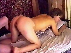 Russian porn fuck-fest on the sofa ussr retro