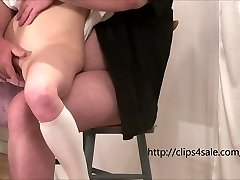 The young slut gets fingered and fucked by an old boy
