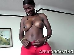 African cutie loves railing cock
