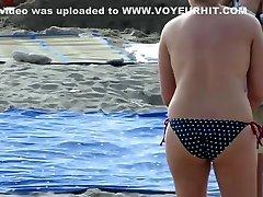 Real voyeur beach amateur fat boobs sans bra mummies video
