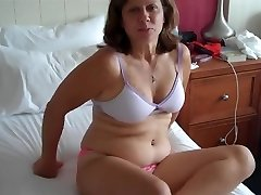 Mature Woman Is Riding A Stiffy