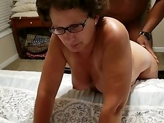 Shelly arched over and poked hard in front of her husband
