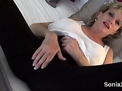 Hotwife english cougar lady sonia presents her gigantic jugs