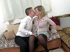 Taboo home hump with real mature mother Mirka