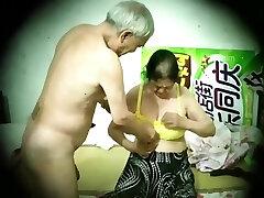 Asian old man mature couple hidden camera 老头 老夫妻