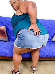Horny fat bitch spreading her plump legs for a fucking