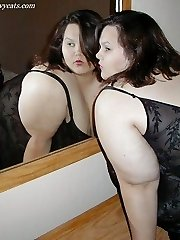 Supersized SSBBW brunette in sexy lingerie