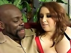 Big Busty Red-haired Hungers For A Big Black Cock