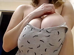 Beautiful Russian Girl Shows Large Natural Udders