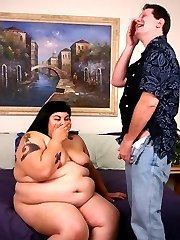 Ursula is a horny teen BBW who loves to flash her tits to lure guys into fucking her eager muff