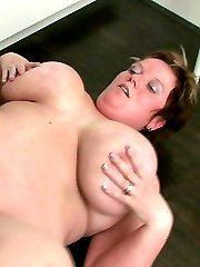 The fat girl has him aroused like he can't believe so he goes home to fuck her flabby pussy