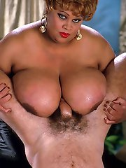 Horny Ebony Chick Making Sex Posing with Huge Boobies
