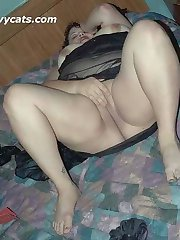 Sexy Italian BBW sucks and fucks a big dildo