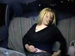 Nasty Blonde in Taxi Cab