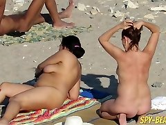 Voyeur Amateur Nude Beach MILFs Covert Cam Close Up