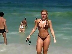 Super Hot girl on beach